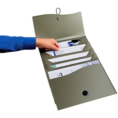 Avery Slide and View 5-Pocket Expanding File, Grey, Letter Size EXPANDING FILE LETTER SIZE