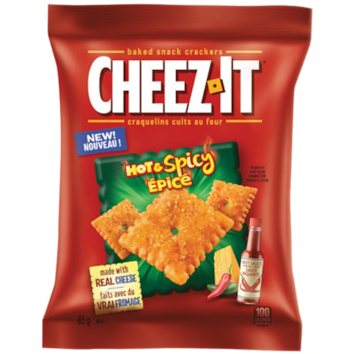 Cheez-It Baked Snack Crackers, Hot and Spicy, 85 g, 6/BX 6 X 85G