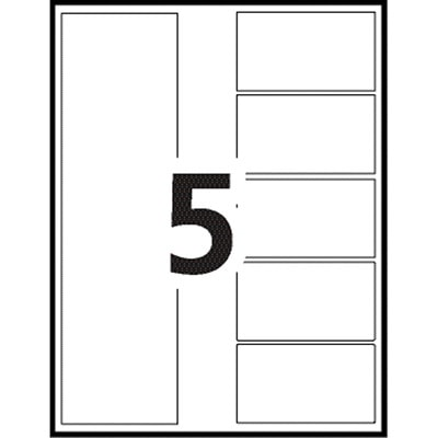Avery Ready Index Customizable Table of Contents Dividers, Multi-Coloured, Numbered (1-5), Uncollated, Letter-Size, 5 Tabs/ST, 25 Sets/BX 25 UNCOLLATED SETS 20% PCW