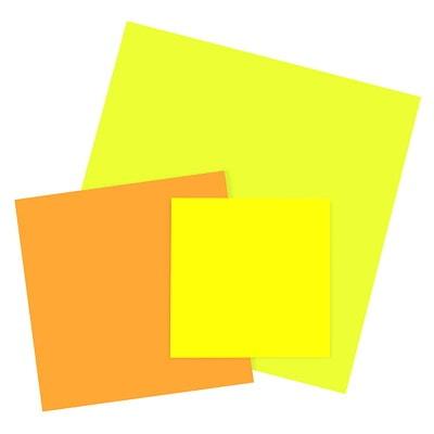 Grands feuillets super collants Post-it, jaune vif, 11 po x 11 po, bloc de 30 feuillets SUPER COLLANT  JAUNE ÉCLATANT