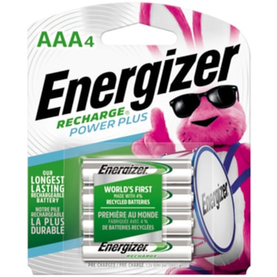 """Energizer Recharge """"AAA"""" NiMH Rechargeable Batteries, 4/PK (NH12BP4) BATTERY  4PK"""