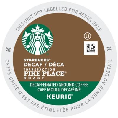 Starbucks Coffee Single-Serve K-Cup Pods, Decaffeinated Pike Place Roast, 24/BX 24/BOX