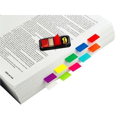 "Post-it Standard Flags, Bright Pink, 1"" x 1 7/10"", 50/PK 50 FLAGS/EACH 1X1.7"" 3M"