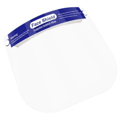 Globe Commercial Products Face Shields, Clear, 2/PK