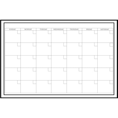 """WallPops! Peel-N-Stick Dry-Erase Calendar, 36"""" x 24"""", English 36""""X 24""""  PEEL & STICK MARKER WITH ERASER INCLUDED"""