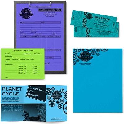 Papier Astrobrights Neenah, couleurs froides, format lettre, certifié FSC et Green Seal, 24 lb, rame 8.5 X11 5 COL ASS 500/PK