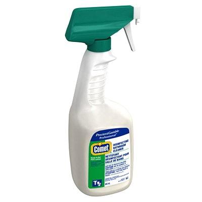 Comet Disinfecting Liquid Bathroom Cleaner Spray, 945 mL
