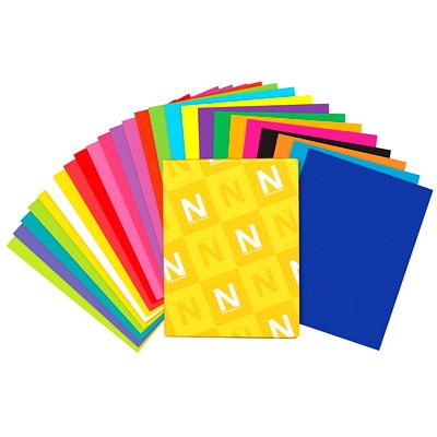 Papier Astrobrights Neenah, couleurs fluorescentes, format lettre, certifié FSC et Green Seal, 24 lb, rame 8.5 X11 5 COL ASS 500/PK