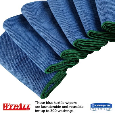WypAll Microfibre General Purpose Cloths with Microban Protection, Blue, 6/PK
