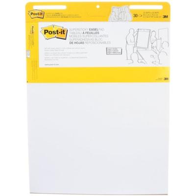 "Post-it Super Sticky Self-Stick Easel Pad 25""X30"" WHITE  30 SHEETS/PAD 2 PADS/PKG SELF-STICK"