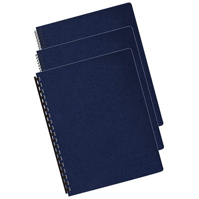 Fellowes Expressions Linen Texture Unpunched Binding Covers, Navy, Letter Size, 200/PK OVERSIZED LETTER NAVY; 200 PACK