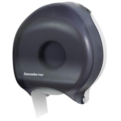 "Cascades PRO Universal Jumbo Bath Tissue Dispenser, Single Roll, 9"", Black SINGLE ROLL  9""  BLACK CASCADES PRO"