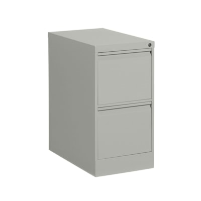 "Offices to Go Marvel Vertical File, 2 Drawer, Grey, 15 1/4"" x 25"" x 29"" GREY"