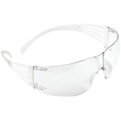 3M SecureFit Protective Eyewear, Clear Anti-Fog Lens, Frameless with Clear Temple CLEAR LENS W/CLEAR TEMPLE ANTI-FOG LENS  3M