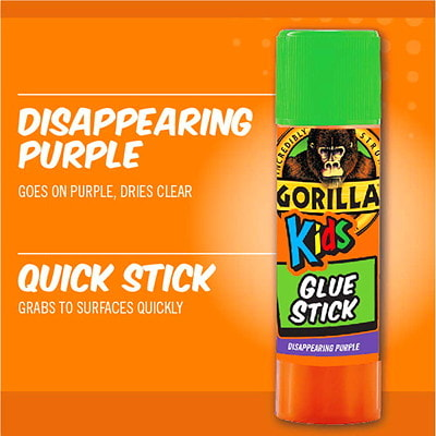 Gorilla Kids School Glue Sticks, 6 g, 2/PK
