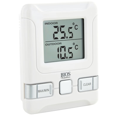Bios Living Wireless Indoor/Outdoor Thermometer -50C TO 70C / -58F TO 158F MIN / MAX MEMORY