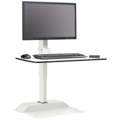 Safco Soar Electric Desktop Sit/Stand Single Monitor Arm WHITE