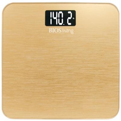 BIOS Living Metallic Digital Scale, Gold 5 YR WARRANTY  METALLIC TEMPERED GLASS SURFACE