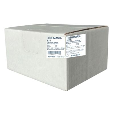 Sacs à ordures industriels HighMark, transparent, 35 po x 50 po, robuste, caisse de 125 GARBAGE BAGS CASE OF 125