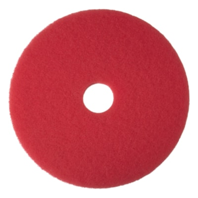 "3M 5100 Buffer Pads, Red, 20"", 5/CS"