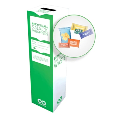 TerraCycle Candy and Snack Wrapper Zero Waste Recycling Box Kit, Large Size ZERO WASTE BOX 15X15X40 TERRACYCLE