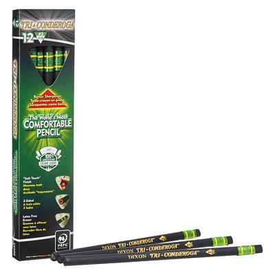 Dixon Tri-Conderoga Triangular-Shaped Standard Size Pencils, #2 HB, Black, 12/BX 12 COUNT BOX
