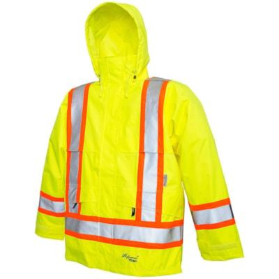 Viking Professional Journeyman 4XL 300D Bright Green Jacket CLASS 2 LEVEL 2 100% WATERPROOF
