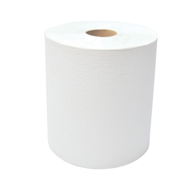 """Dura Plus 1-Ply Diamond Hand Paper Towels, White, 600', 12/CT 12 RL 8"""" X 600' BIODEGRADABLE QUALITY PRODUCT"""