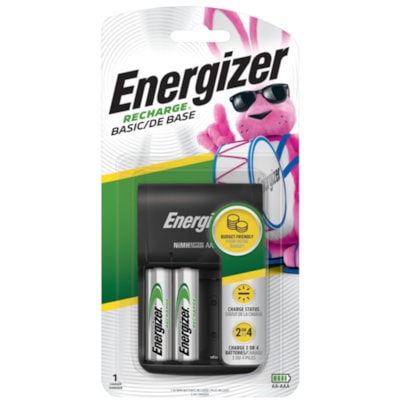 """Energizer Basic Charger with 2 """"AA"""" NiMH Rechargeable Batteries  FED GOV'T"""