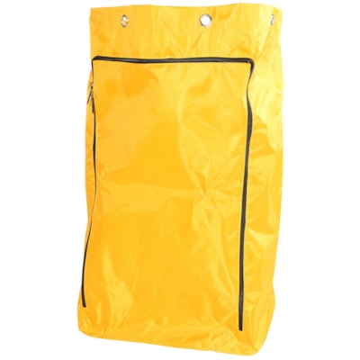 Sac de rechange en vinyle avec fermeture à glissière Globe Commercial Products 6 GROMMET REPLACEMENT BAG EASY REMOVAL OF TRASH & LINERS