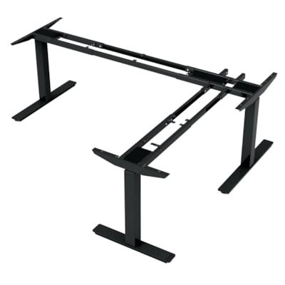 "ergoCentric upCentric 3-Leg Height-Adjustable Table Frame, 22"" ELECTRIC  BLACK 22"" FRAME  WIDTH ADJUSTABLE"