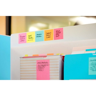 """Post-it Super Sticky Notes, Neon Pink, 3"""" x 3"""", 70 Sheets/Pad, 5 Pads/PK 654-5SSNP-C NEON PINK 3INX3IN (76MMX76MM)"""