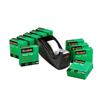 Scotch Magic Tape Refills with Bonus Dispenser C60 DISPENSER 18MM X 32.9M