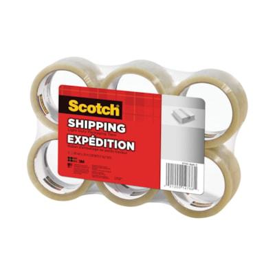 Scotch Shipping Packaging, Transparent, 48 mm x 50 m, 6/PK SHIPPING LIGHT-DUTY TAPE 48MM X 50M 6PACK