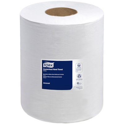 """Tork 2-Ply Advanced Soft Centerfeed Hand Paper Towels, White, 490', 6/CS WHITE 2-PLY 9""""X590' 600 SHEETS/ROLL"""