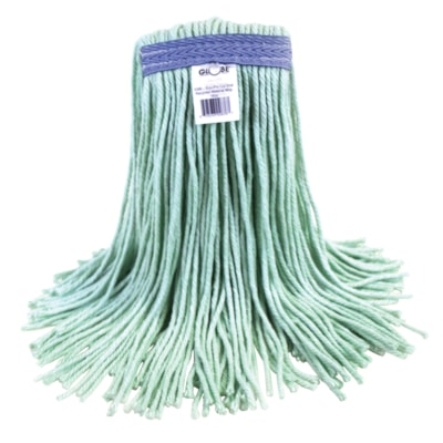 Globe Commercial Eco-Pro 16 Oz Narrow-Band Mop, Cut End MADE OF 100% RECYCLED MATERIAL CUT END  LAUNDERABLE