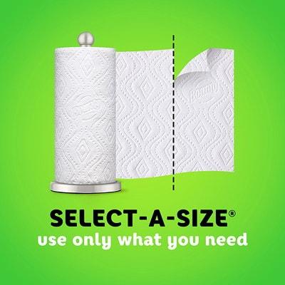 Bounty 2-Ply Select-A-Size Paper Towels 6=12, White, 98 Sheets/RL, 6/PK SELECT A SIZE  6PK