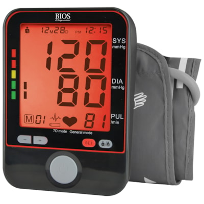 BIOS Living Protocol Blood Pressure Monitor 2 USERS  STORES 90 READINGS
