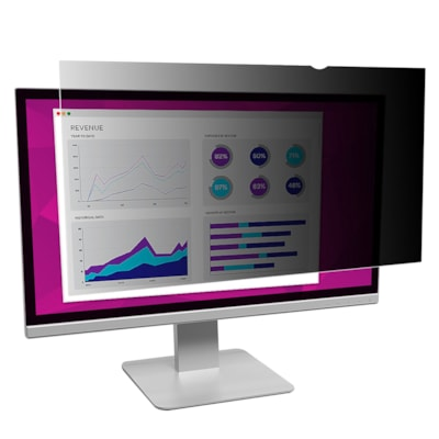 """3M High Clarity Privacy Filter for 24"""" Widescreen Desktop Monitors 16:10 WIDESCREEN. GLOSSY BLUE LIGHT REDUCTION 24"""