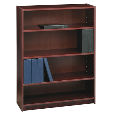 "Global Genoa Series 4-Shelf Bookcase, Mahogany, 36"" x 12"" x 48"" MAHOGANY 36""WX12""DX48""H  GLOBAL"