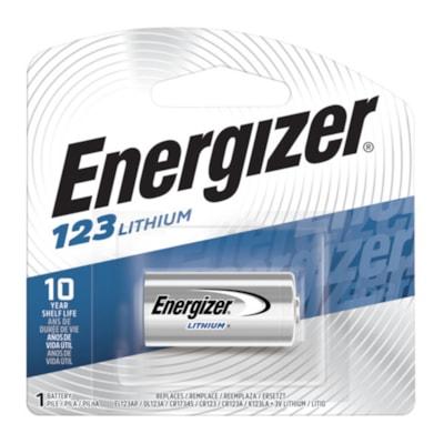 Energizer 123 Lithium Photo Battery, 1/PK (EL123APBP)  LITHIUM 3 VOLT
