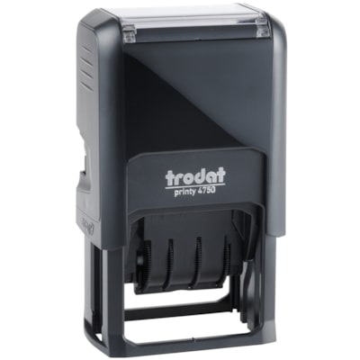 Trodat Printy 4750 Self-Inking Text Dater Stamp, Faxed, English PLASTIC FRAME YEAR BAND COVERS 12 YEARS TRODAT