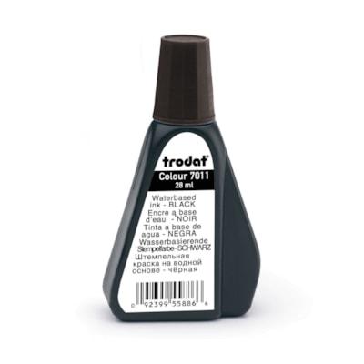Recharge d'encre noire pour tampon encreur 7011 Trodat, 28 ml TRODAT NOIR 28ML
