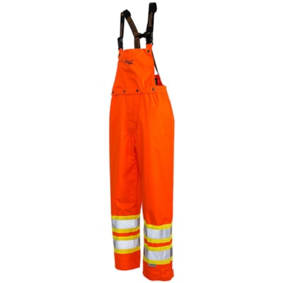 Salopette orange vif 300D Professional Journeyman Viking, TTTTG CLASS 2 LEVEL 2  CSA 100% WATERPROOF