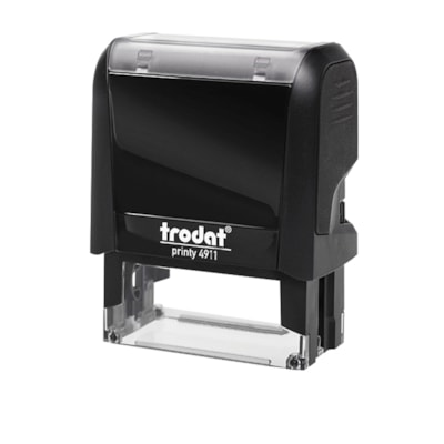 """Trodat Printy 4911 Climate Neutral""""FAXED"""" (With Date Space) Self-Inking Stamp SPACE FOR DATE STANDARD SIZE WATER BASED TRODAT S-PRINTY"""