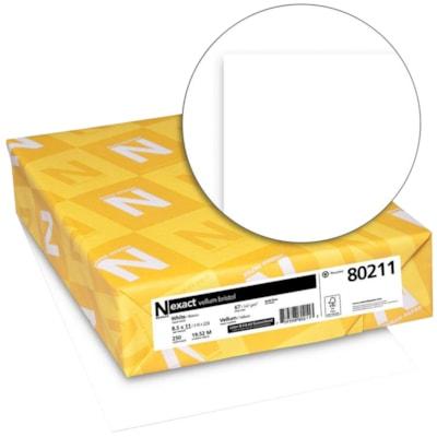 Neenah Exact Vellum Bristol Cover Stock Paper, White, Letter Size, Green Seal Certified, Ream 8.5 X11 19.52M FSC 8.5PT 250/PK