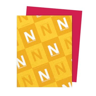 Papier Astrobrights Neenah, rouge rentrée, format lettre, certifié FSC et Green Seal, 24 lb, rame FSC LASER JET D'ENCRE GARANTIE RE-ENTREE ROUGE
