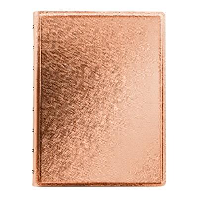 Carnet A5 or rose métallique Saffiano Filofax REFILLABLE  ROSE GOLD COVER A5 SIZE: 8-1/4 X 5-3/4