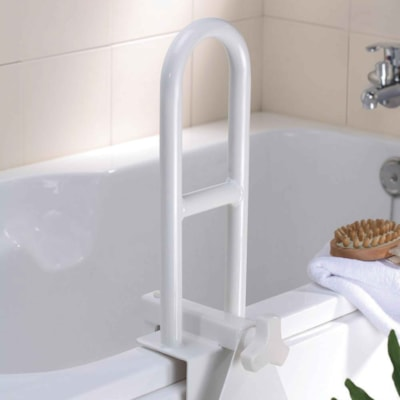 BIOS Living Bathtub Safety Rail, White CORROSION RESISTANT STEEL PULL PRESSURE 300 LBS