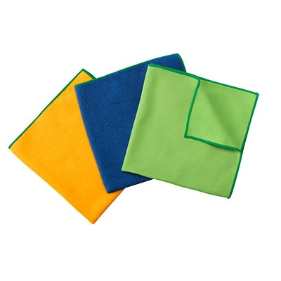 WypAll Microfibre General Purpose Cloths with Microban Protection, Green, 6/PK USE ON MIRRORS AND GLASS